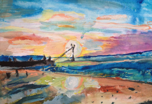 sunset-painting